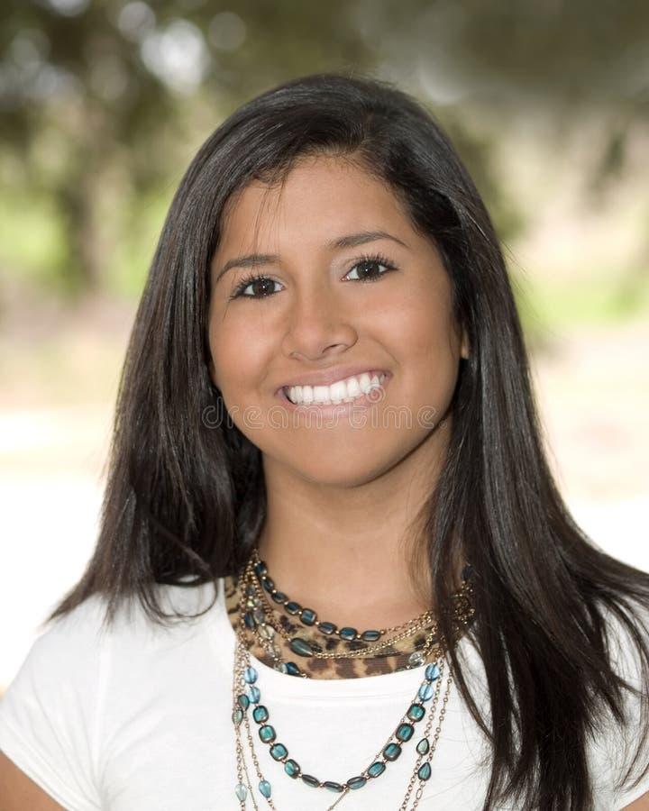 Young Hispanic Teen Girl Portrait Stock Photo