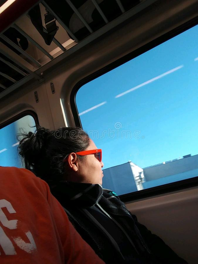 Young Hispanic woman traveling alone royalty free stock photography