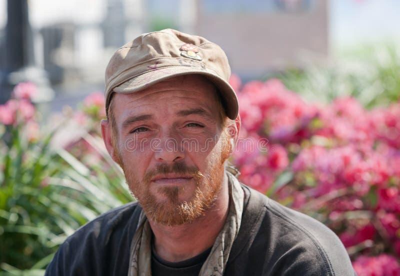 Young homeless man stock photos