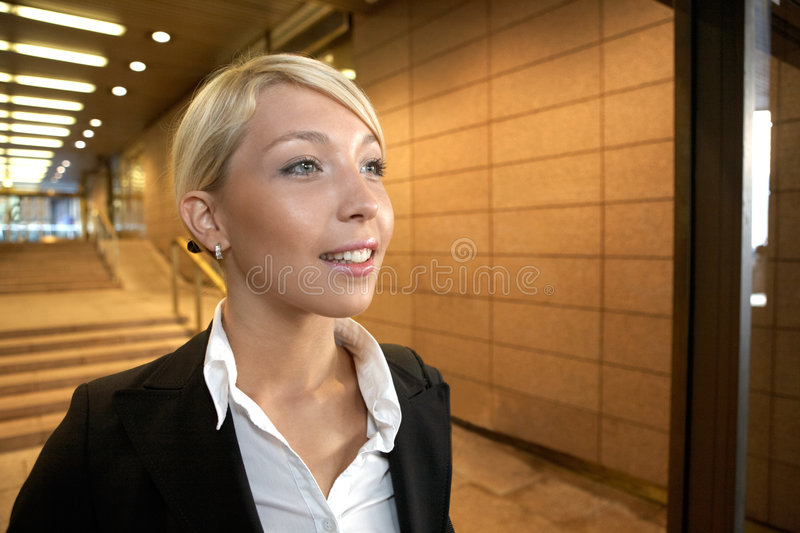 Download Young Hopeful Businesswoman Royalty Free Stock Photography - Image: 5503317