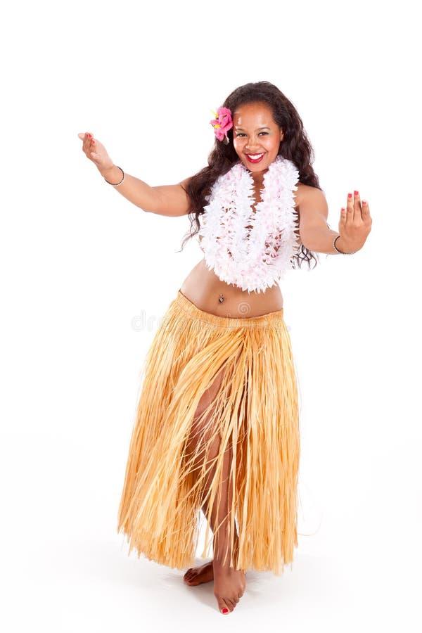 Young hula dancer dancing stock photography