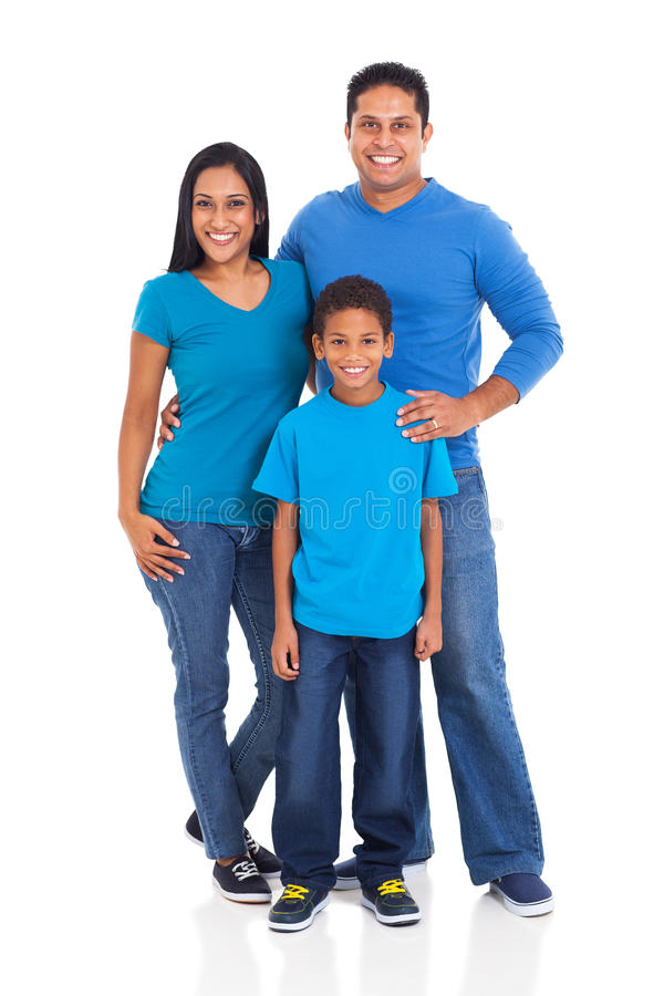 Young indian family stock photo
