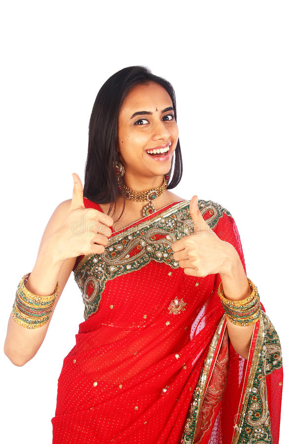 Download Young Indian Girl In Traditional Clothing Stock Photo - Image of happy, hindu: 23197108