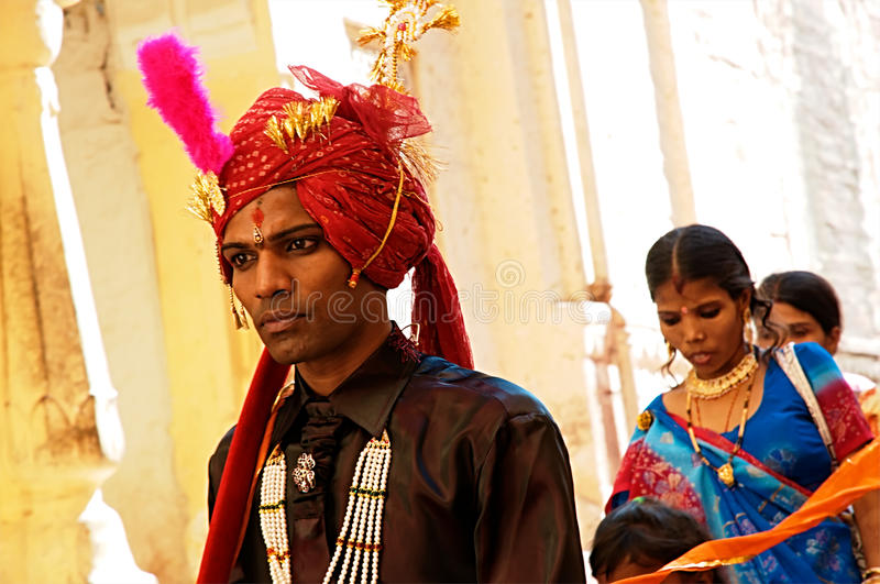 Young indian groom stock image