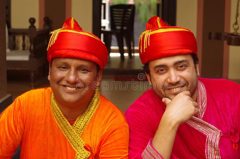 Young Indian Men in traditional dress-1 royalty free stock image