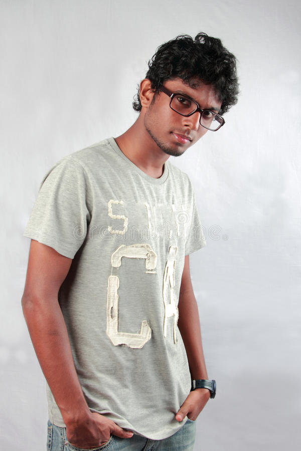 Young Indian teenager. Fashion portrait of a young Indian teenager stock images