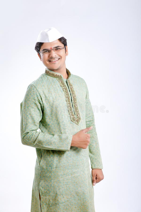 Young indian on traditional wear stock images