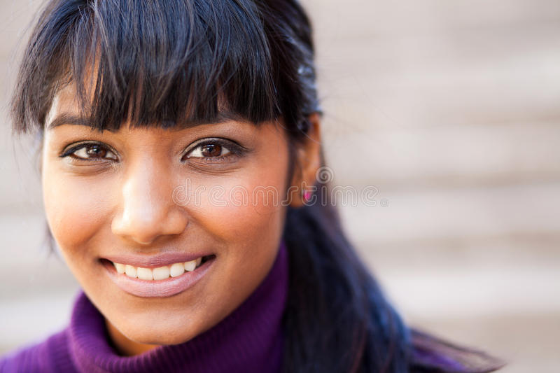 Young indian woman stock photo