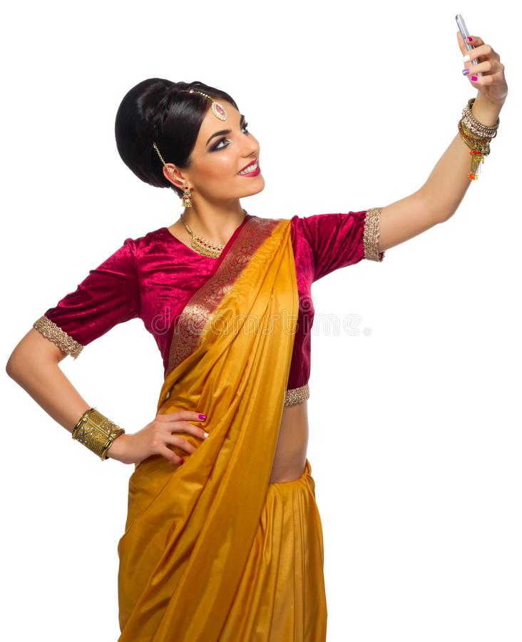 Young indian woman isolated stock images