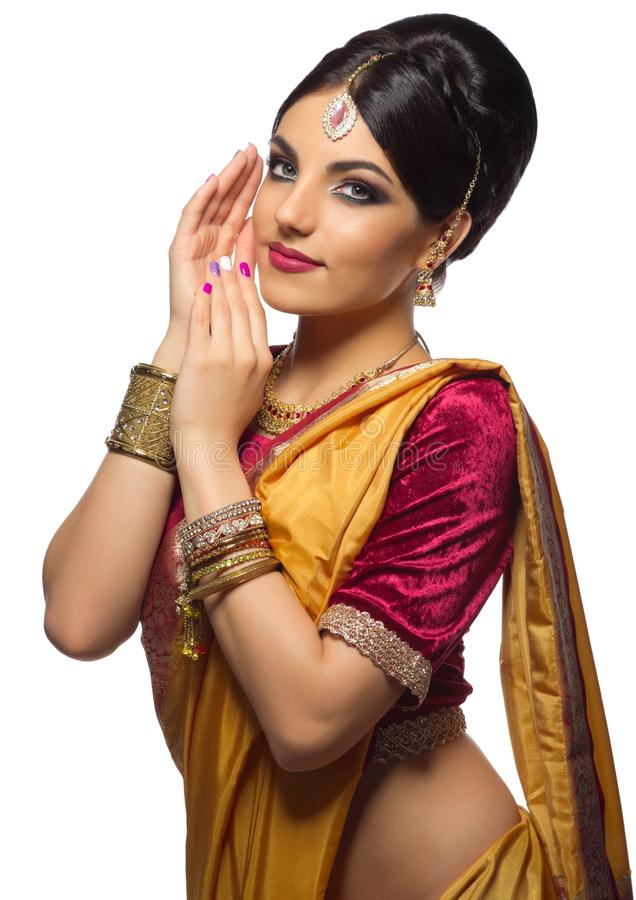Young indian woman isolated royalty free stock image