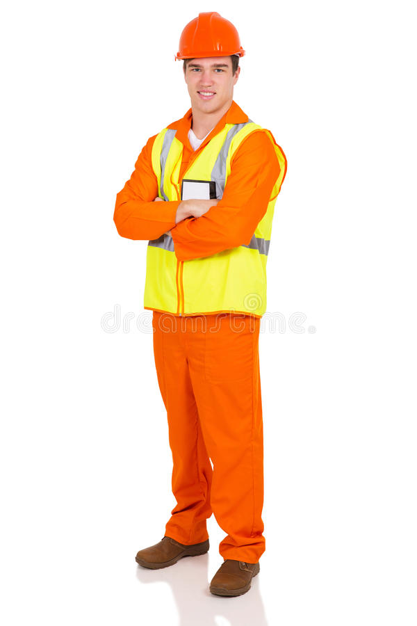 Young industrial worker stock images