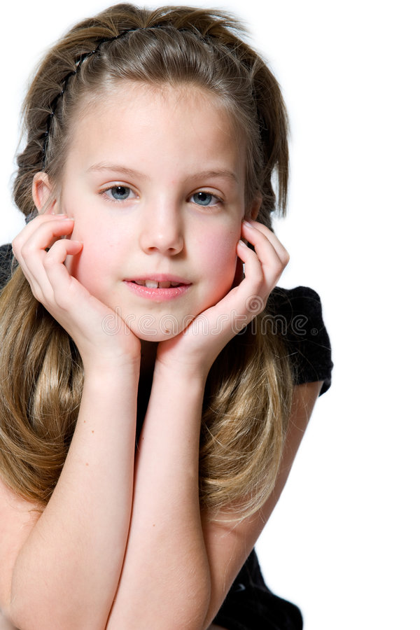 Young interested girl stock photos