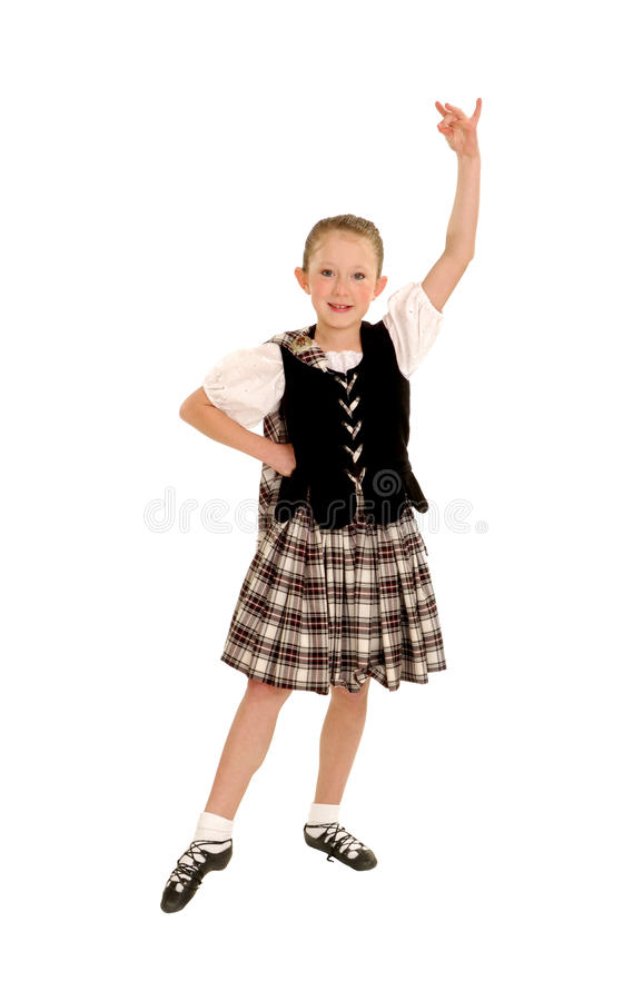 Download Young Irish Dancer in Kilt stock image. Image of pixart - 22995499