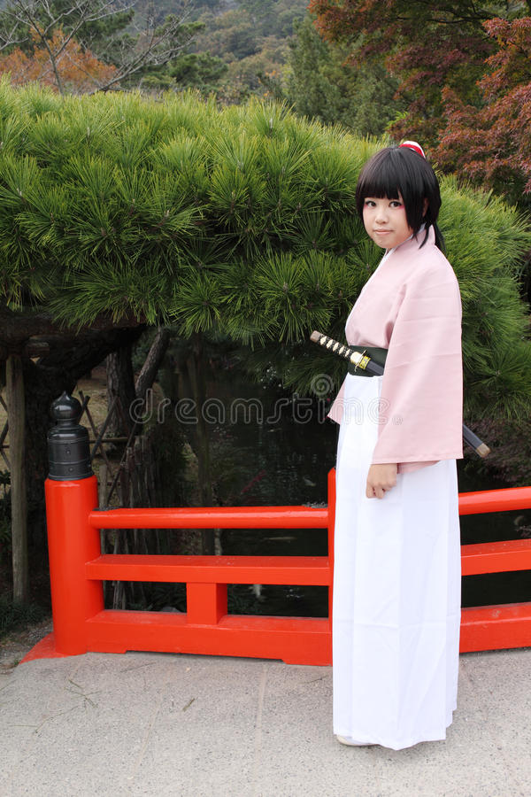 Download Young Japanese Cosplayer, Samurai Editorial Image - Image: 22341480