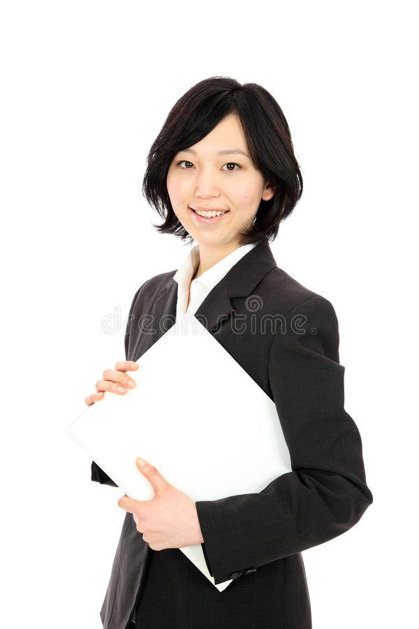 Young japanese women with a file stock image