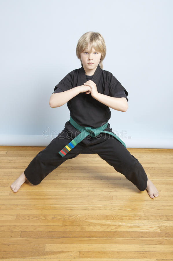 Young Karate student royalty free stock photos