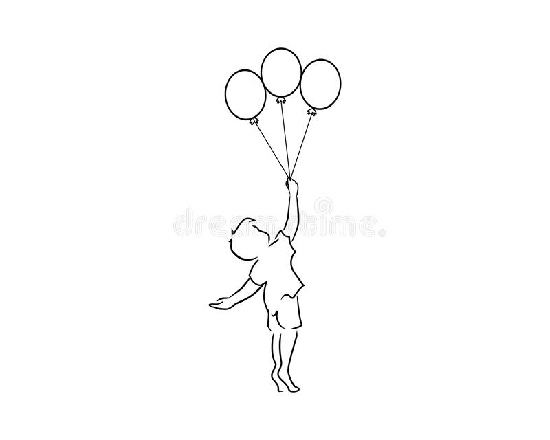 Holding Balloons Black and White Stock Photos & Images - Alamy