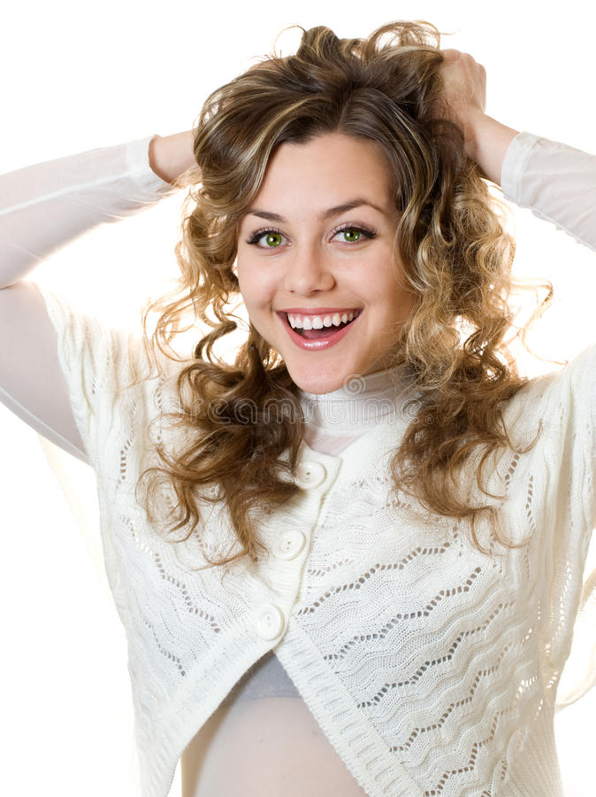 Download Young lady stock photo. Image of beautiful, excited, joyful - 22978988