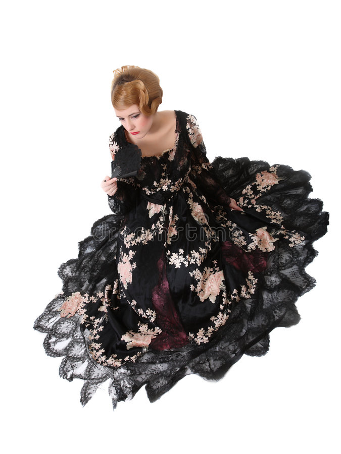 Download Young lady in ball dress stock image. Image of lady, antique - 5158821