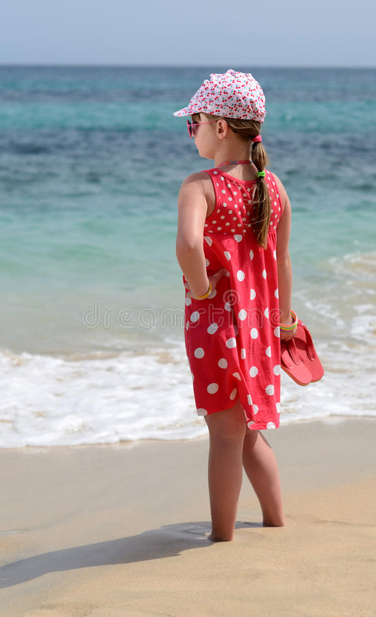 Download Young lady on the beach stock photo. Image of freedom - 24435370