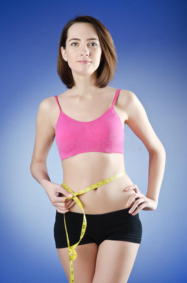 Download Young Lady In Dieting Concept Stock Photo - Image: 24347414