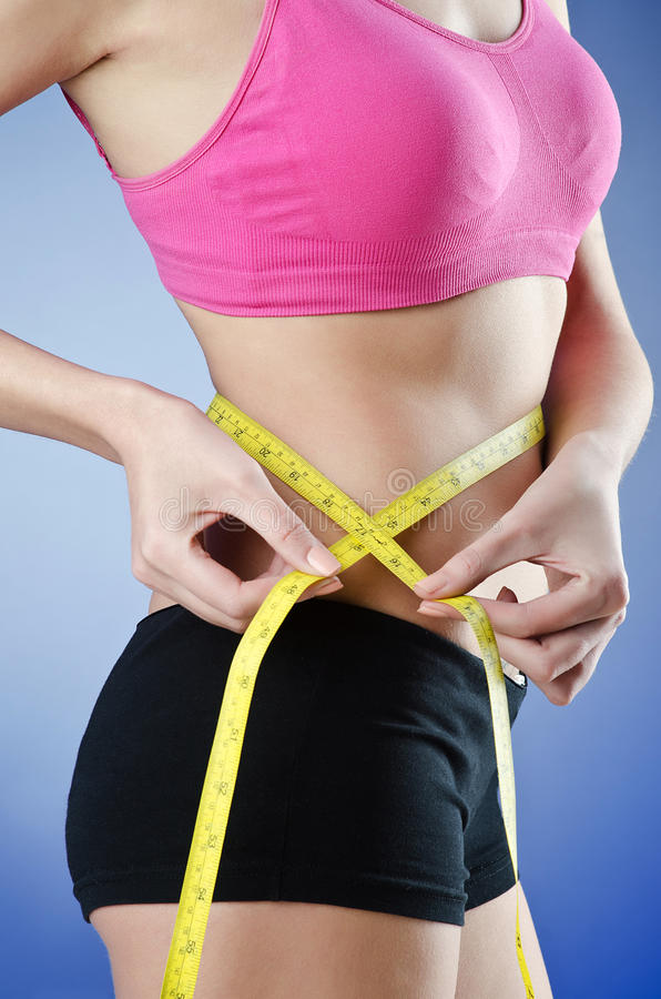 Young Lady In Dieting Concept Royalty Free Stock Images