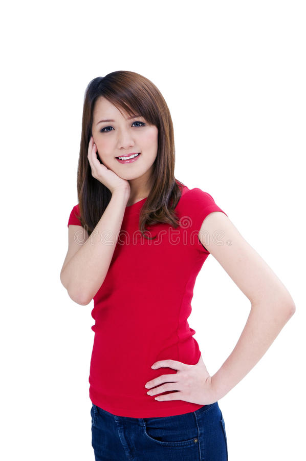 Download Young Lady With Hand On Her Chin Royalty Free Stock Images - Image: 19328099