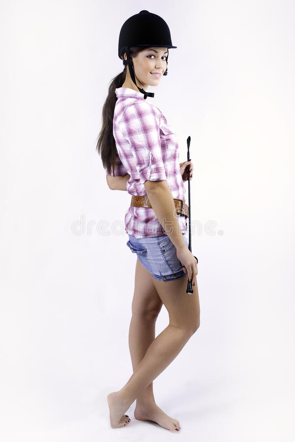 Download Young Lady With Horse Cap Stock Images - Image: 25616734