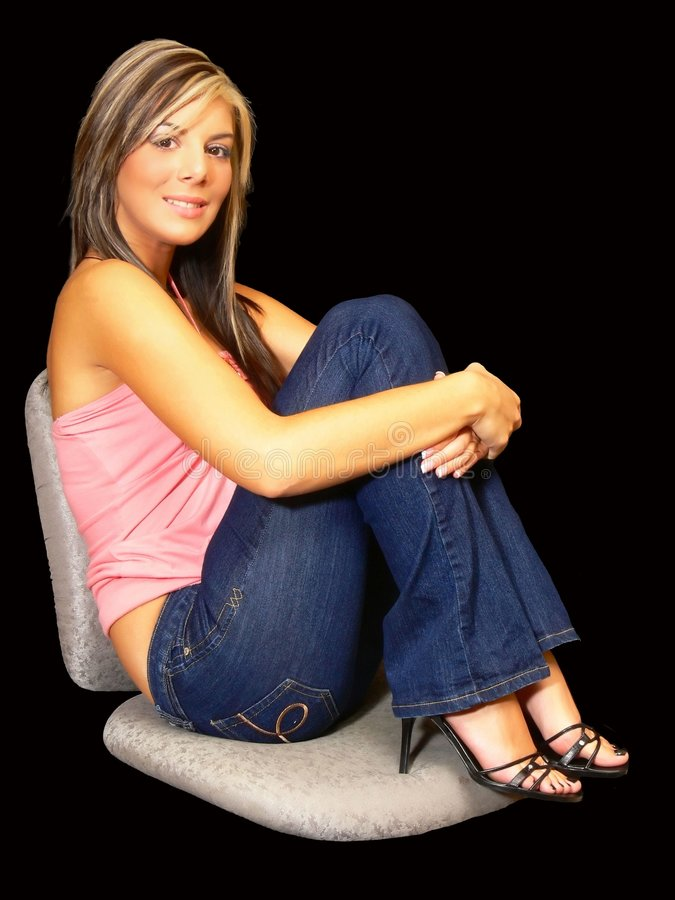 Free Young Lady In Jeans. Stock Photos - 3571883