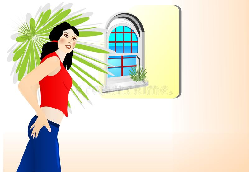 Download Young Lady In Jeans, Cdr Vector Stock Photography - Image: 20305692
