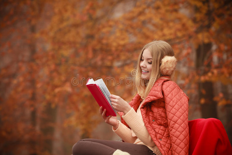 Young lady with literature. royalty free stock photo