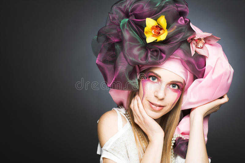 Download Young lady with orchids stock photo. Image of attractive - 37685446