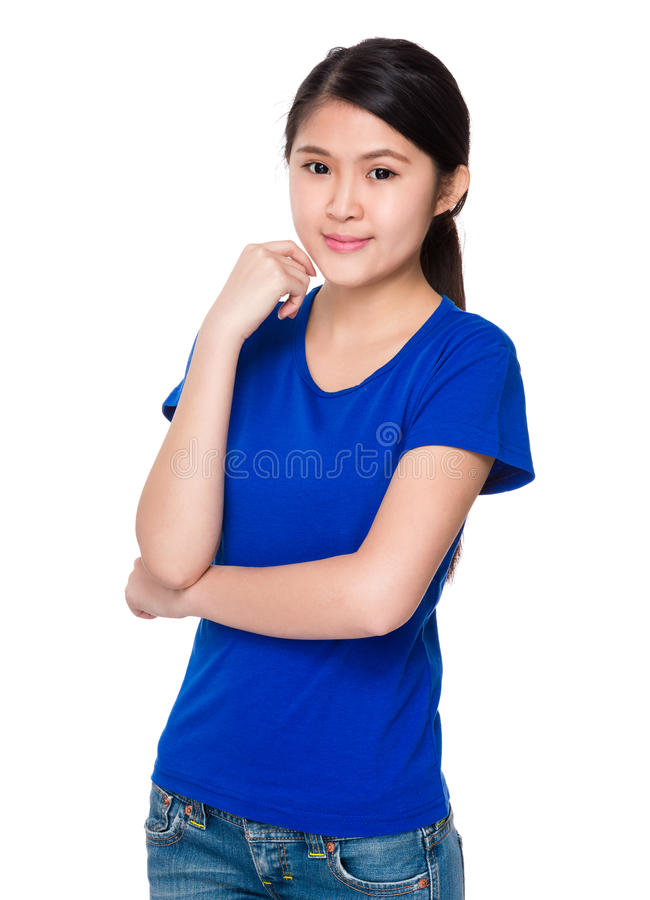 Young lady portrait stock images