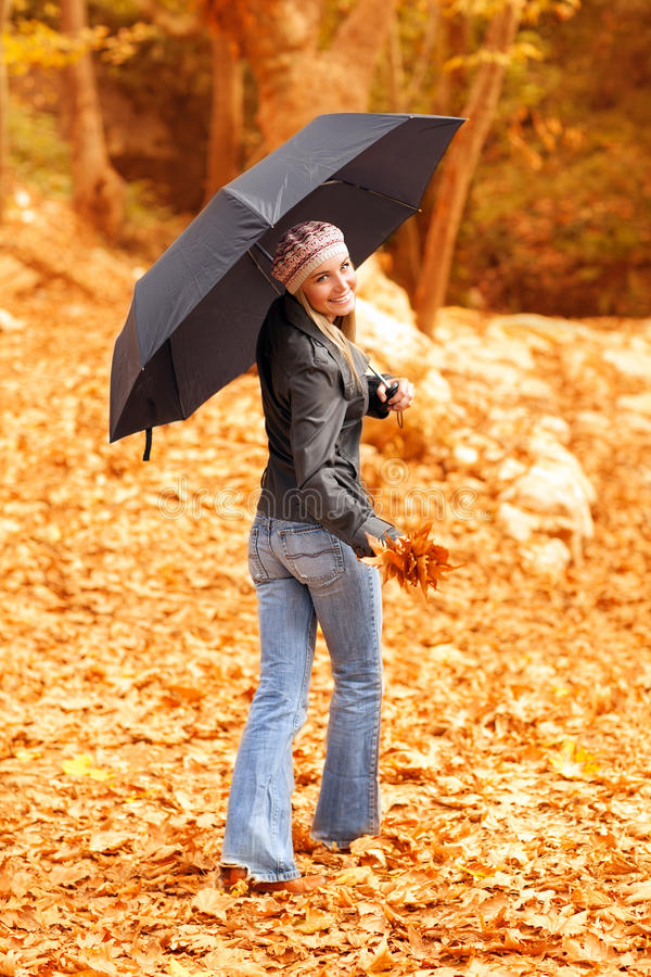 Download Young Lady With Umbrella Royalty Free Stock Photos - Image: 27372408