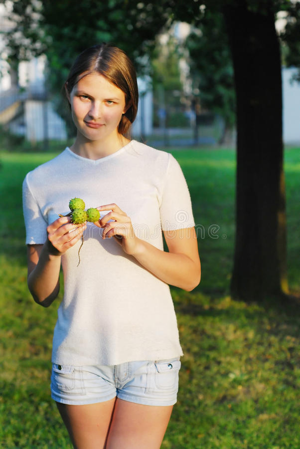 Free Young Lady With Chestnuts Stock Image - 10483171