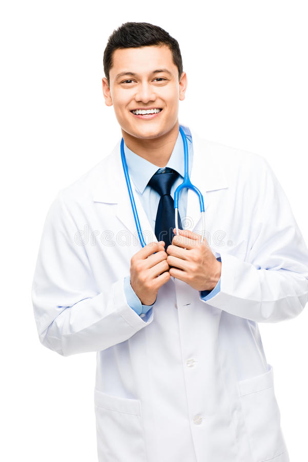 Young Latin American Doctor royalty free stock image