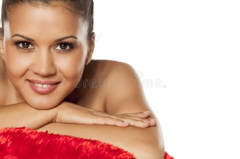Young latina relaxing royalty free stock image