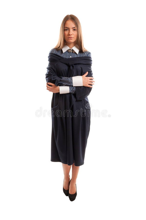 Young lawyer looking at the camera stock photography