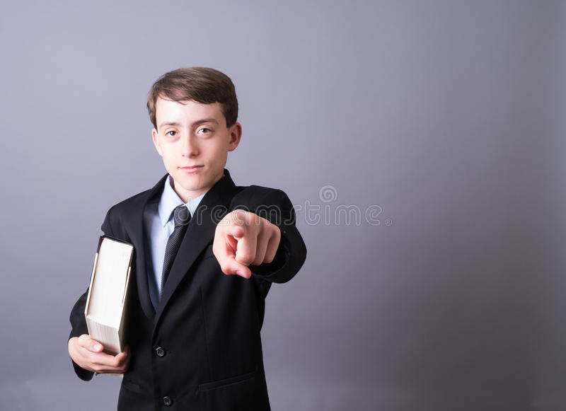 Download Young Lawyer pointing stock photo. Image of male, laws - 25185708