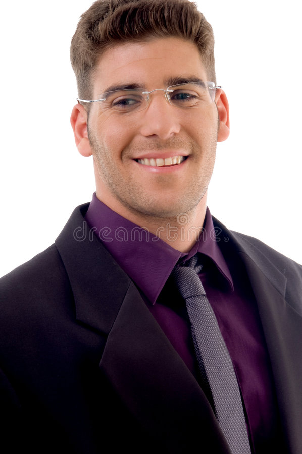 Young lawyer smiling stock photo