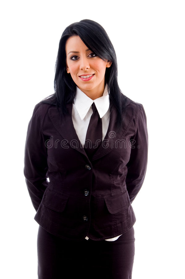 Young lawyer smiling stock photos