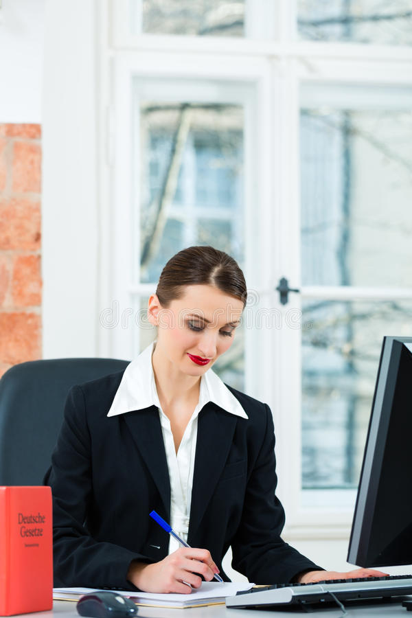 Download Lawyer In Office Making Notes In A File Stock Image - Image: 29801583