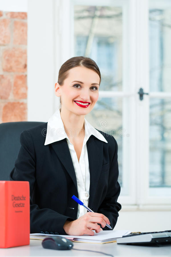 Download Lawyer In Office Making Notes In A File Stock Image - Image: 30003873