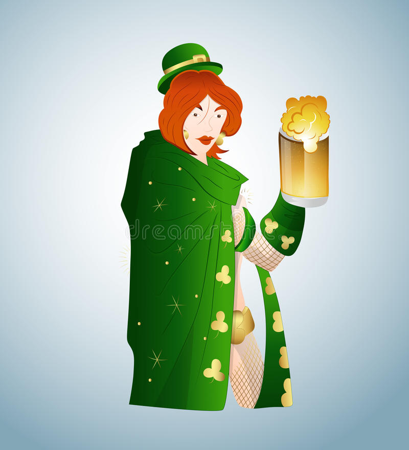 Download Young Leprechaun With Beer Royalty Free Stock Photography - Image: 23336347