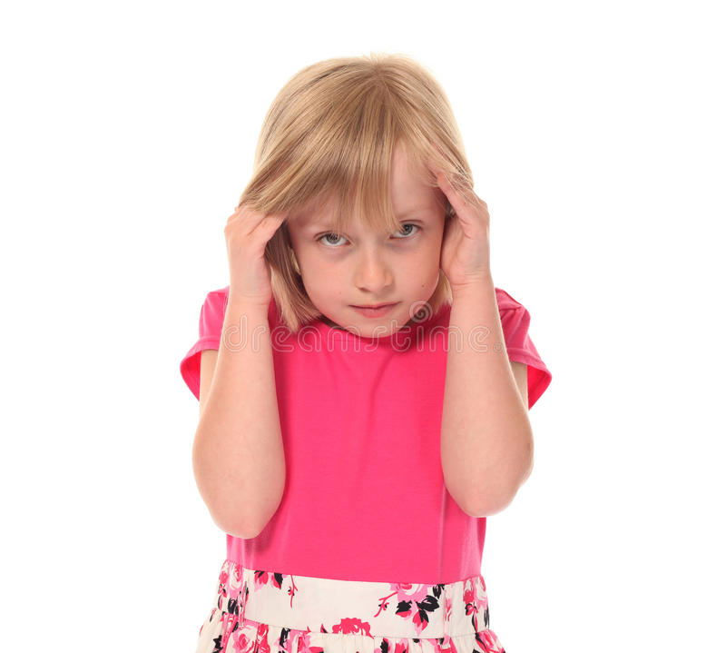 Download Young Little Girl In Pain Royalty Free Stock Photo - Image: 14210405