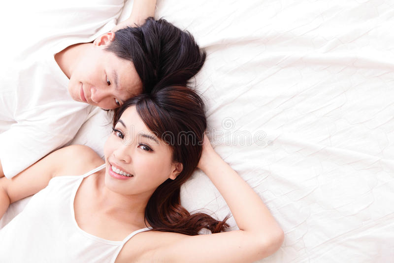 Download Young lovely couple smile stock photo. Image of chinese - 34381172