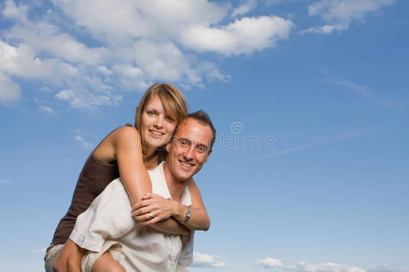 Young Lovers Piggy Back Royalty Free Stock Photography