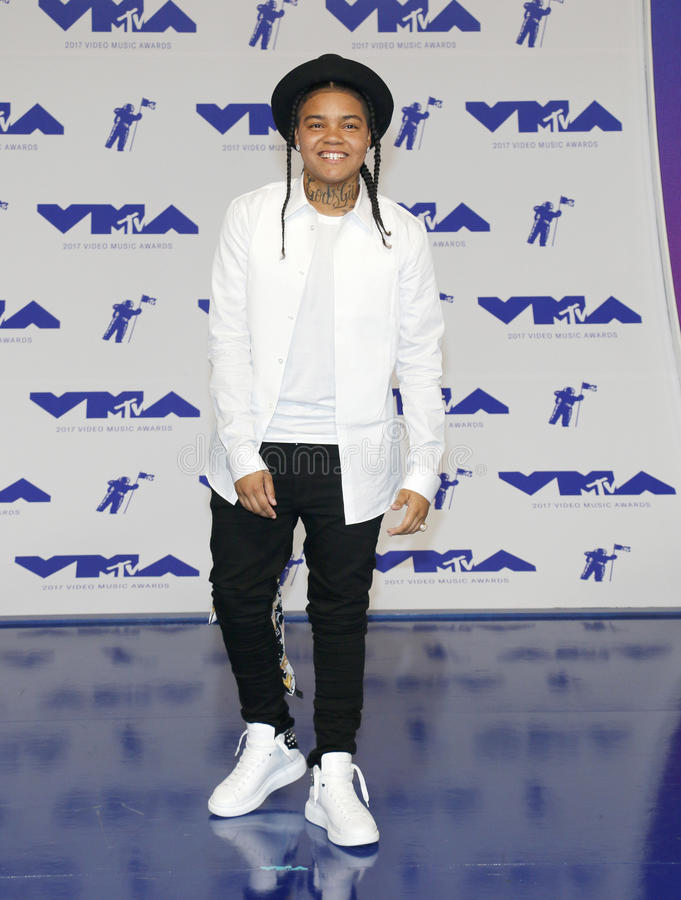 Young M.A. At the 2017 MTV Video Music Awards held at the Forum in Inglewood, USA on August 27, 2017 stock photo
