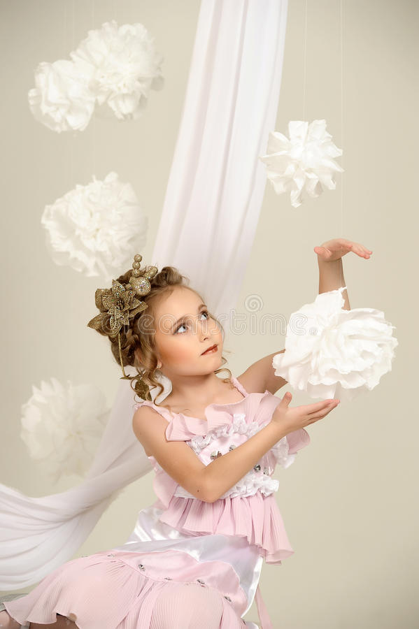 Young magic fairy stock photography