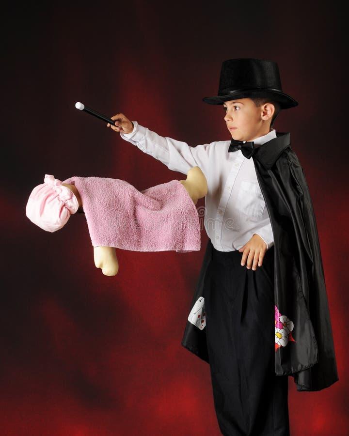 Young Magician Levitating Stock Photo